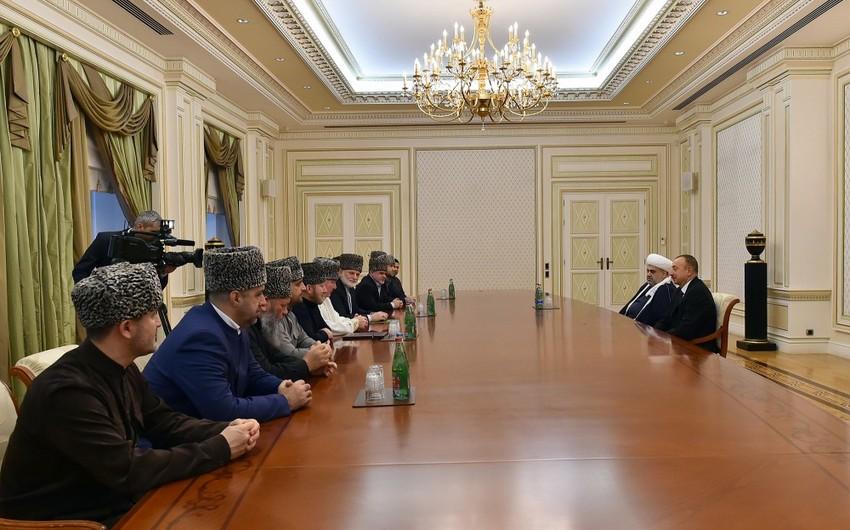 Президент Ильхам Алиев принял членов Высшего религиозного совета народов Кавказа
