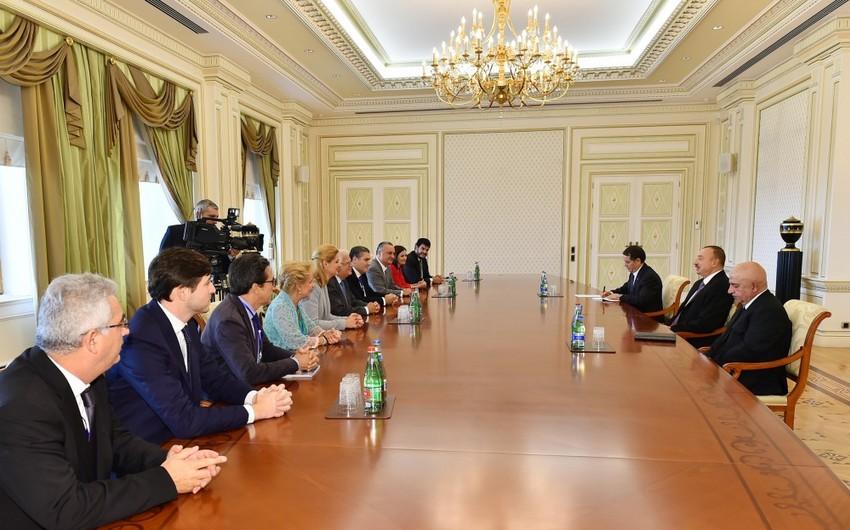 Президент Ильхам Алиев принял делегацию Европейской народной партии