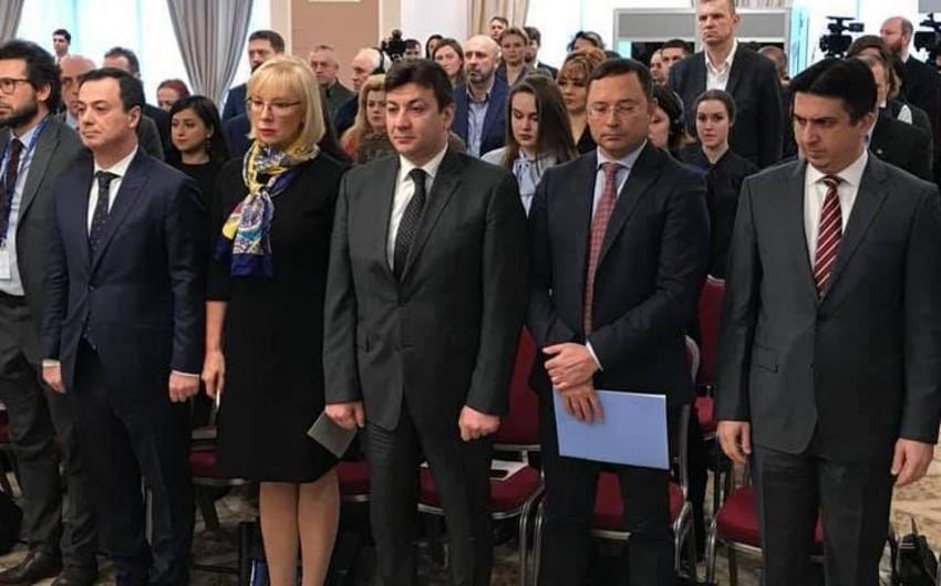 Kiyevdə Xocalı faciəsinə həsr olunmuş konfrans keçirilib - FOTO