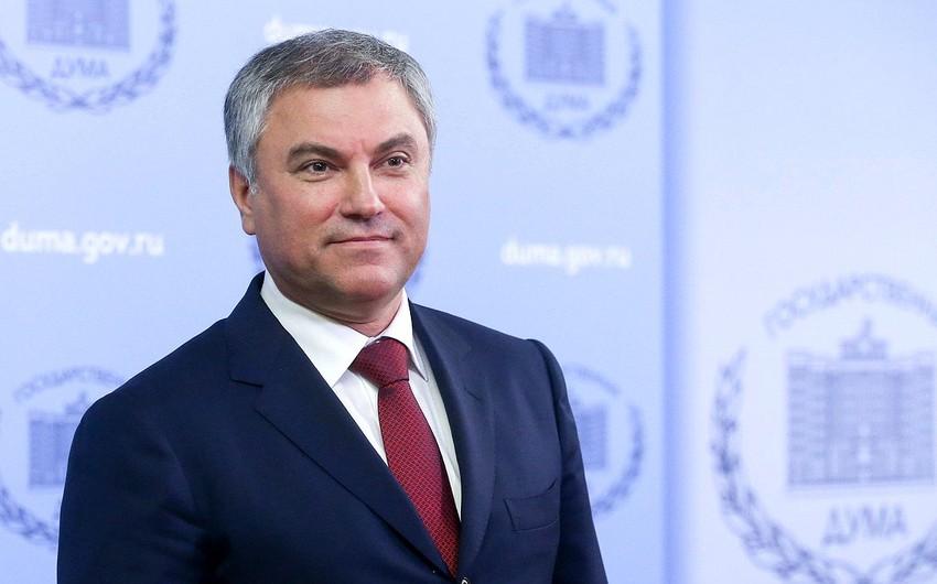 Rusiya Dövlət Dumasına sədr seçilib