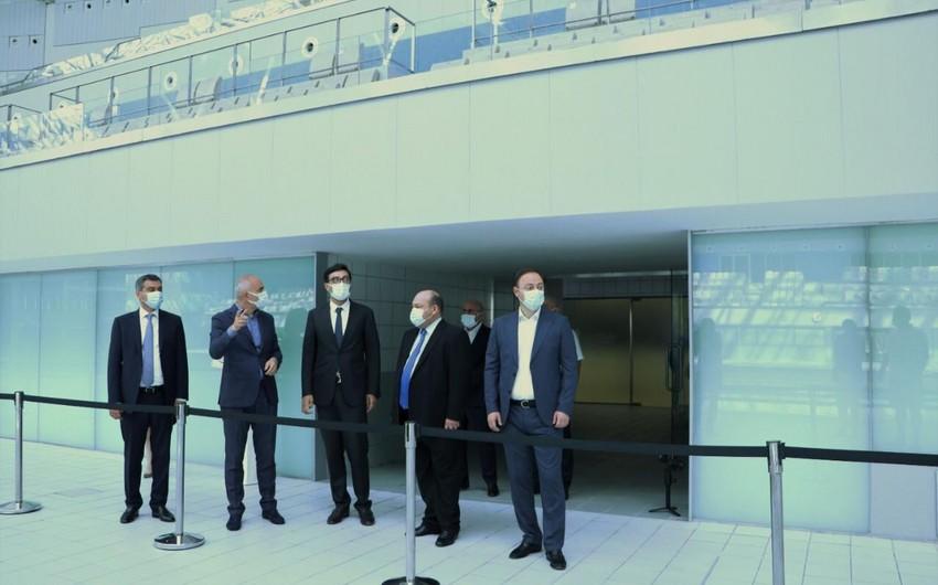 Fərid Qayıbov Üzgüçülük Federasiyasının prezidenti ilə görüşüb