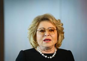 Valentina Matvienko: Azərbaycan prezidentinin təşəbbüsünü hərarətlə alqışlayırıq