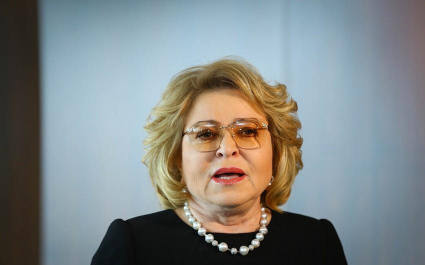 Valentina Matviyenko yenidən MDB PA-nın sədri seçilib