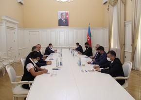 Грузинскую делегацию проинформировали о проводимых в Карабахеработах