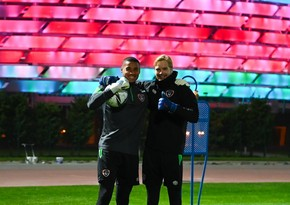 Irish national team starts first training session in Baku