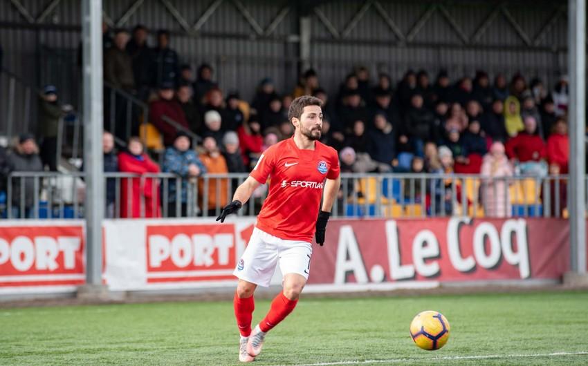Azərbaycanlı futbolçu Estoniya klubundan ayrıldı