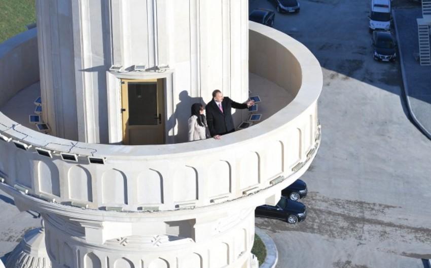 Президент Ильхам Алиев ознакомился с ходом отделочных работ в строящейся в Баку мечети Гейдара