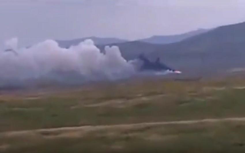 """Azərbaycan MN: Ermənistanın """"OSA"""" zenit-raket kompleksi vurulub, şəxsi heyəti məhv edilib - VİDEO"""
