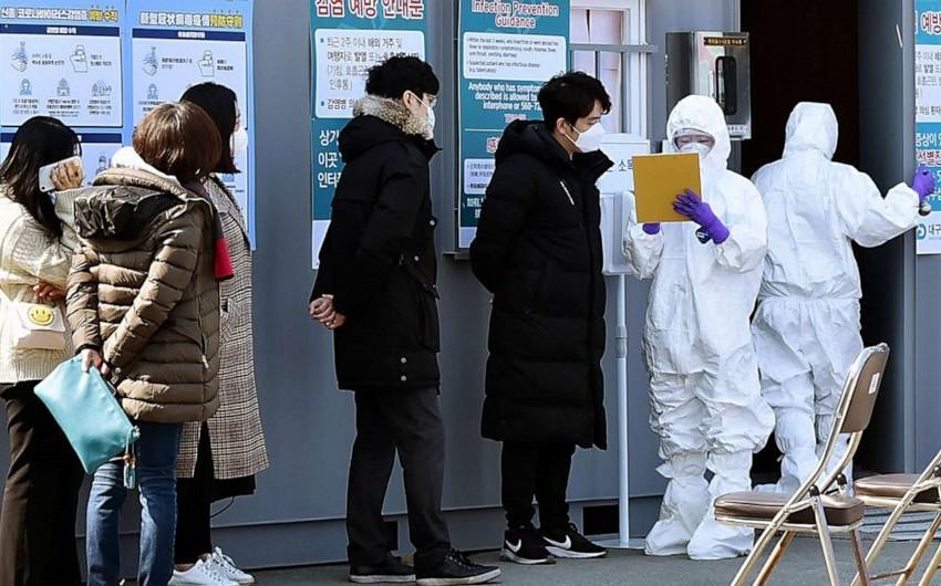 Cənubi Koreyada koronavirusa 8 mindən çox insan yoluxub