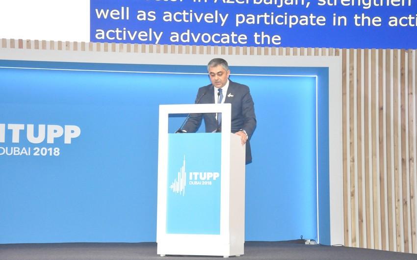 Ramin Quluzadə Beynəlxalq Telekommunikasiya İttifaqının səlahiyyətli konfransında çıxış edib