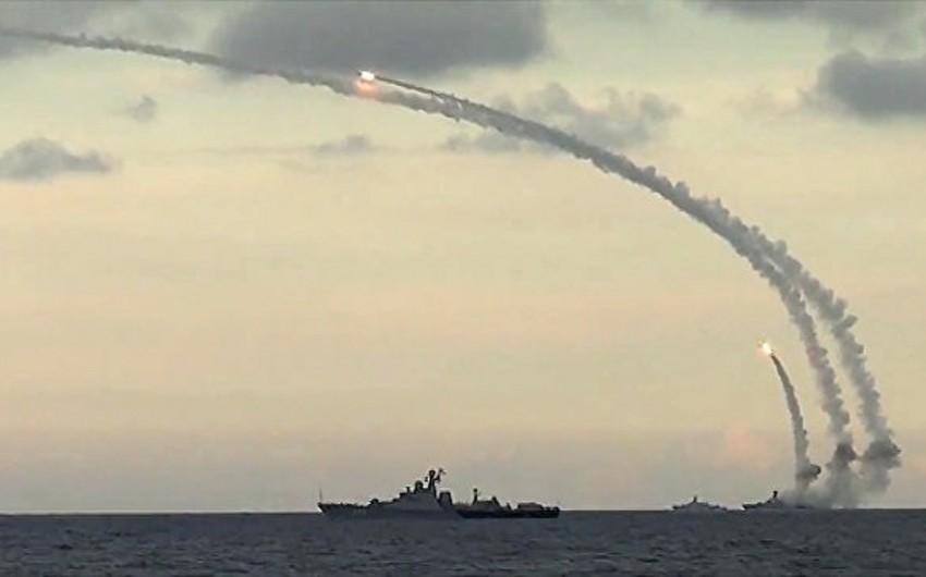 Rusiyanın Xəzər dəniz donanması şərti düşmənin raket hücumunu dəf edib