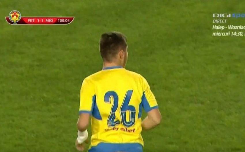 Rumıniya Kubokunda əlsiz futbolçu debüt edib
