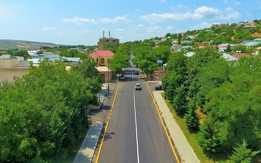 Şamaxı şəhərinin yol infrastrukturu yenidən qurulur