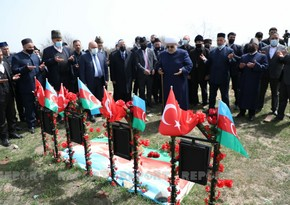 Religious leaders visit Alley of Martyrs in Aghdam