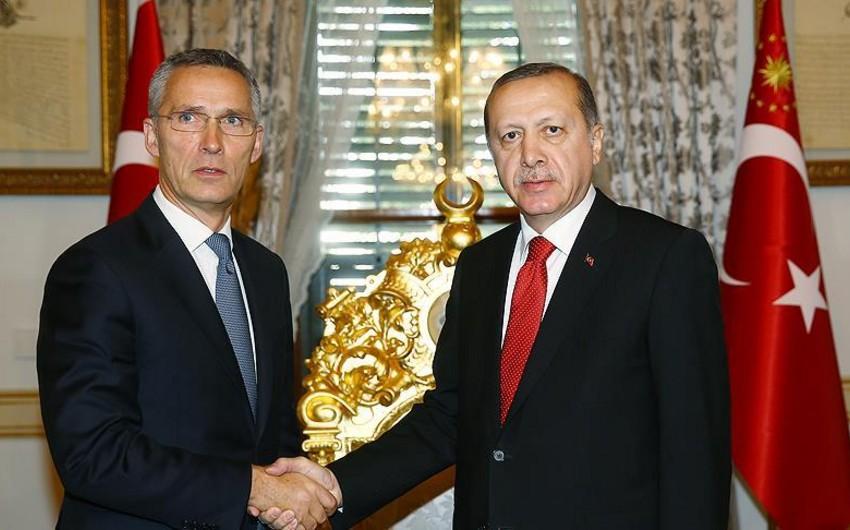Türkiyə prezidenti NATO-nun baş katibini qəbul edib
