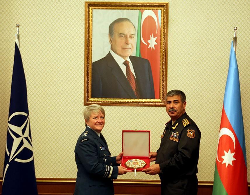Zakir Hasanov meets with NATO Defense College Commandant