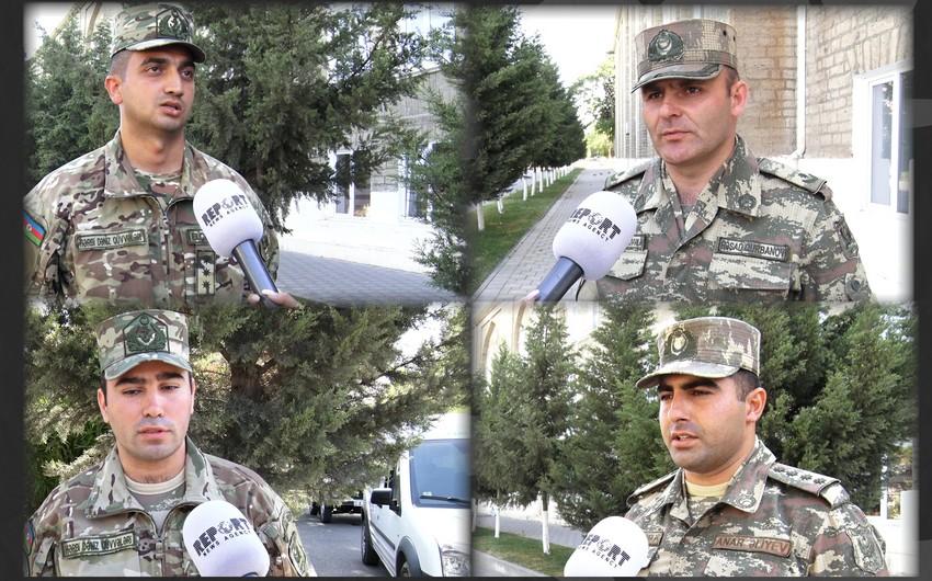 Qalib ordunun qəhrəmanları döyüşlərdən danışır - VİDEO
