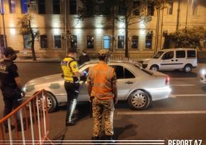Bakıda polis postlarında ciddi yoxlamalar aparılır - VİDEOREPORTAJ