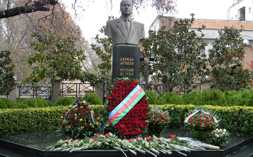 National leader Heydar Aliyev commemorated in Georgia