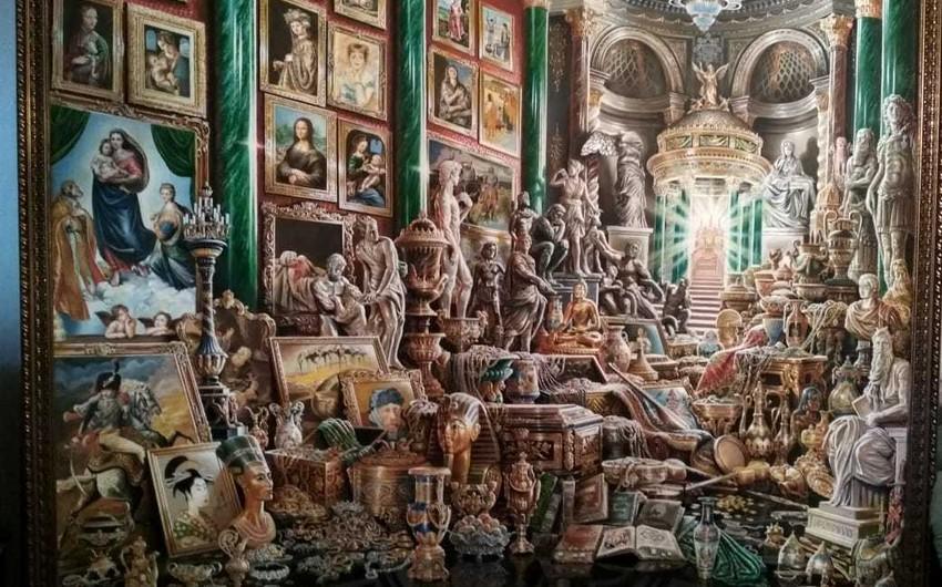 Yeni rəsm əsəri: Dədə Qorqud və Napoleon bir arada