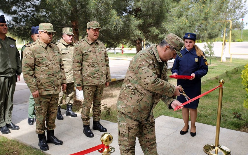 Zakir Hasanov takes part in the opening of the Air Force Training Center