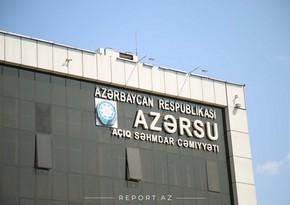"""""""Azərsu"""" sabahdan gücləndirilmiş iş rejiminə keçir"""