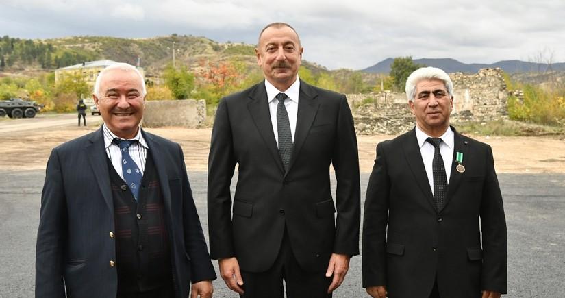 Президент Ильхам Алиев и Мехрибан Алиева встретились с отцом Шахрияра Мамедъярова