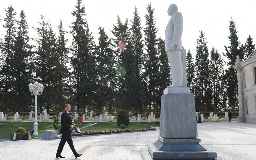 Prezident İlham Əliyev Kürdəmir rayonuna səfərə gedib - YENİLƏNİB