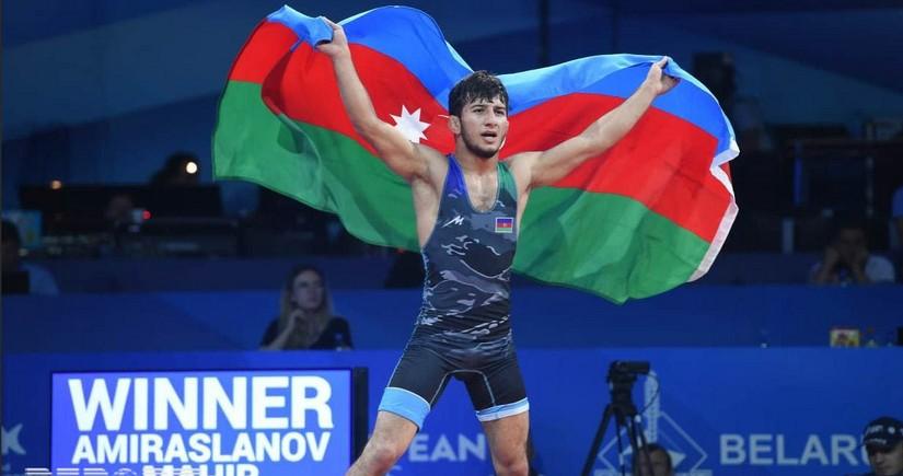 Minsk 2019: Mahir Amiraslanov claims Azerbaijans first wrestling gold