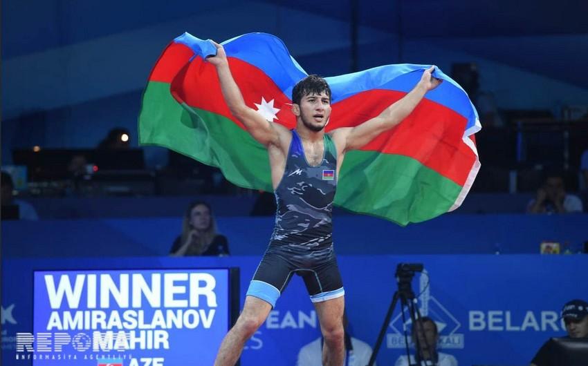 Minsk 2019: Mahir Əmiraslanov Azərbaycana ilk qızıl medalı qazandırıb - FOTO