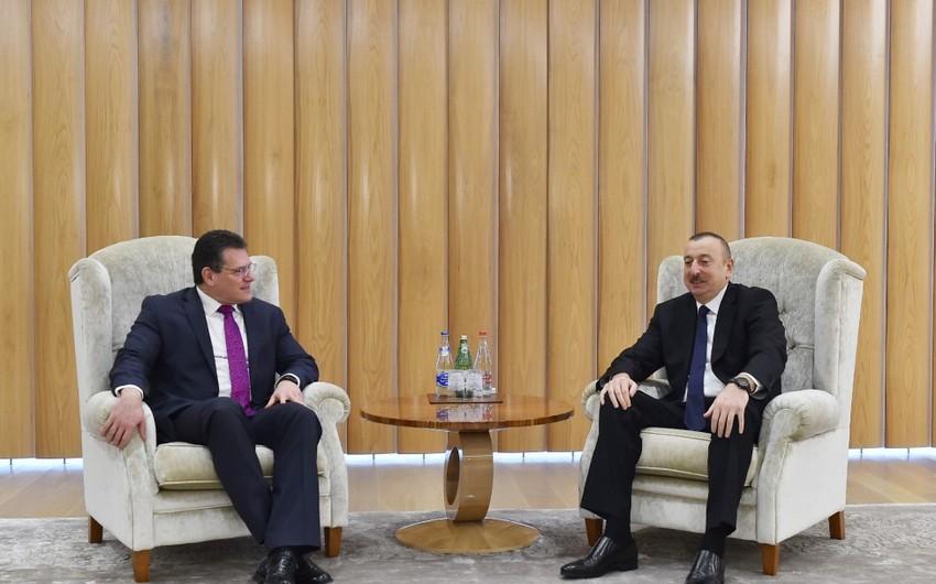President Ilham Aliyev meets with Maroš Šefčovič