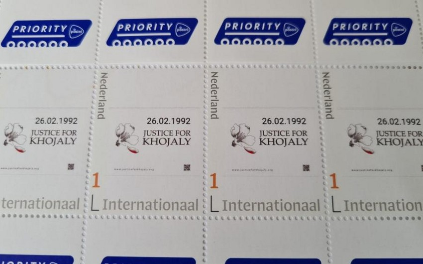 Postage stamps dedicated to Khojaly genocide issued in Netherlands