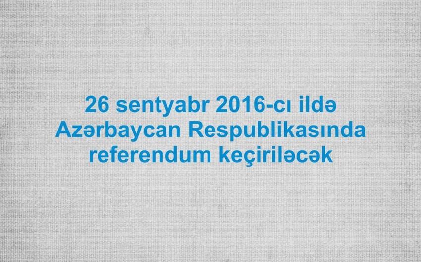 Referendum aktı: Dövlət idarəetməsinin təkmilləşdirilməsi - TƏHLİL