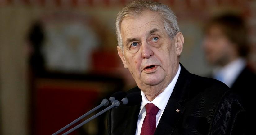 Çexiya Prezidentinin xəstəxanaya yerləşdirilməsi ilə bağlı araşdırma başlanıb