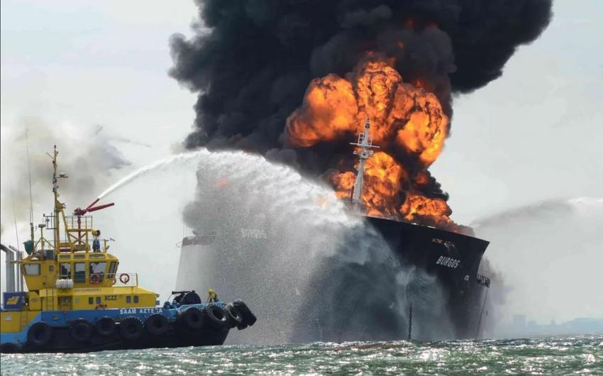 Qayanada neft tankerində partlayış baş verib