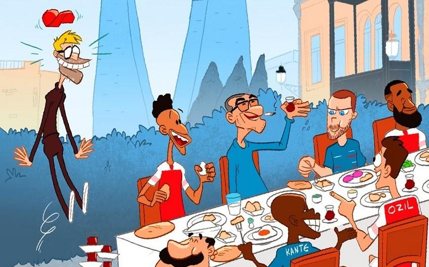 Omar Momani Kloppun Bakı barədə fikirlərinə karikatura ilə cavab verib