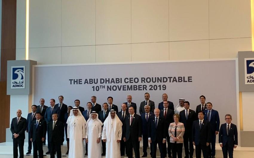 Президент SOCAR провел в Абу-Даби встречи с главами ведущих мировых компаний