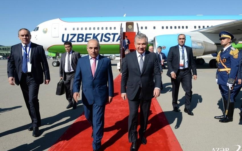 Uzbekistan President visiting Azerbaijan