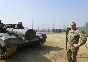 Ilham Aliyev attends opening of Military Trophy Park in Baku