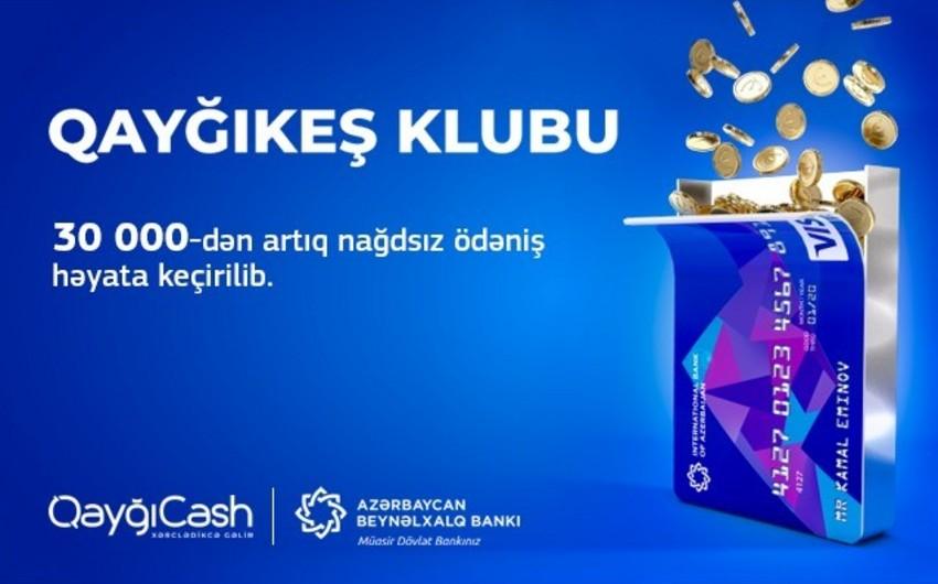"""Azərbaycan Beynəlxalq Bankının kart müştəriləri """"Qayğıkeş"""" klubu çərçivəsində 30 mindən çox nağdsız ödəniş edib"""