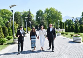 President Ilham Aliyev arrives in Gabala district