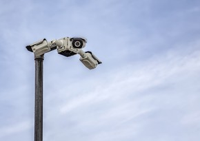 Security cameras of Baku streets