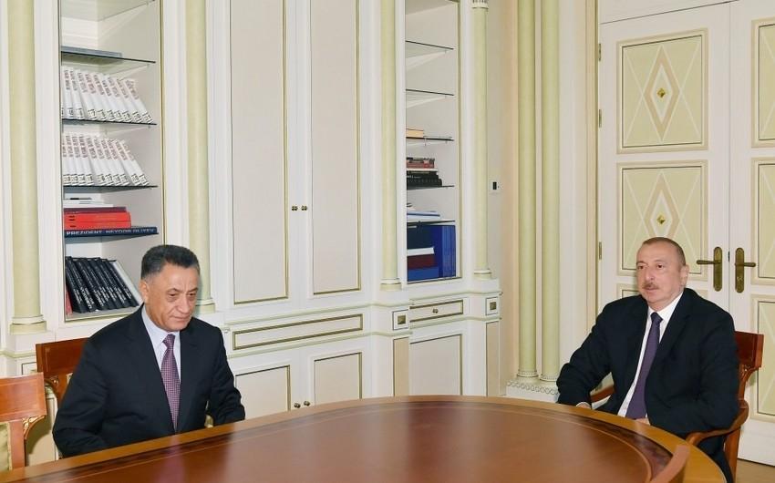 Президент Ильхам Алиев принял Рамиля Усубова по случаю его назначения на должность секретаря Совета безопасности