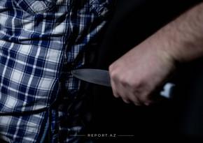 Gəncə sakininə bıçaqla xəsarət yetirilib