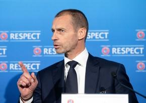 UEFA prezidenti növbəti dəfə Superliqada qalan klublara xəbərdarlıq etdi