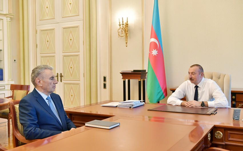 President Ilham Aliyev received Deputy Prime Minister Ali Hasanov as he submitted his resignation letter