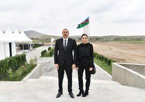 Ильхам Алиев и Мехрибан Алиева посетили Зангиланский район