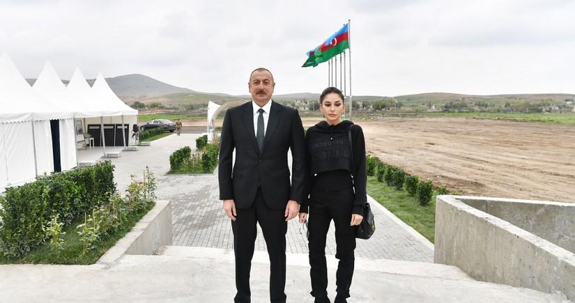 İlham Əliyev və Mehriban Əliyeva Zəngilan rayonunda səfərdə olublar