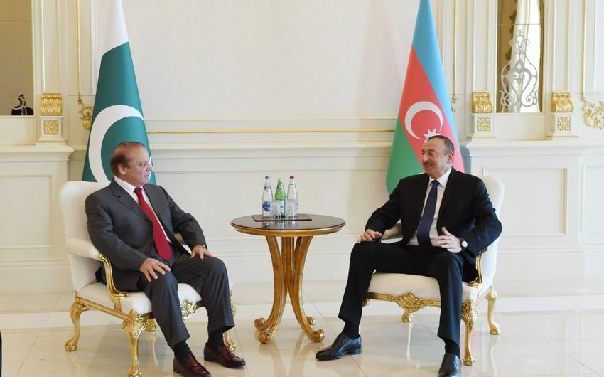 Состоялась встреча президента Ильхама Алиева и премьер-министра Пакистана в узком составе - ОБНОВЛЕНО