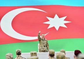 Глава государства: Нашей победой гордится весь тюркский мир